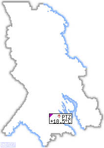 Online Temperature map of Karelia